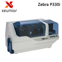 Zebra P330i Card Printer ID Card Printing Machine Support Print Images Use Color Ribbon