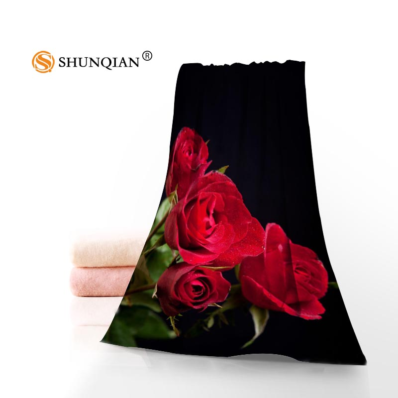 Red Microfiber Bath Towels: Red Roses Background Towels Microfiber Bath Towels Travel
