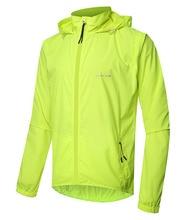 Mens Cycling Jacket Bike Windbreaker Raincoat Waterproof Windproof Breathable  Zipper Off Vest Detachable