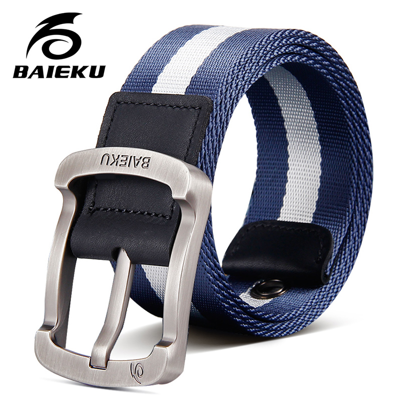 BAIEKU Nylon   belts   for men's pants tactical canvas   belt   for young people Summer refreshing and comfortable accessories