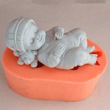 silicone mold turn over sugar chocolate lace cake decorative Baby Shape Silicone soap