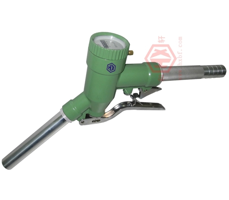 LLY-15 Fuel Diesel Petrol Oil Delivery Gun Nozzle Dispenser With Digital Flow Meter fuel gasoline diesel petrol oil delivery gun nozzle turbine digital fuel flow meter lpm liter
