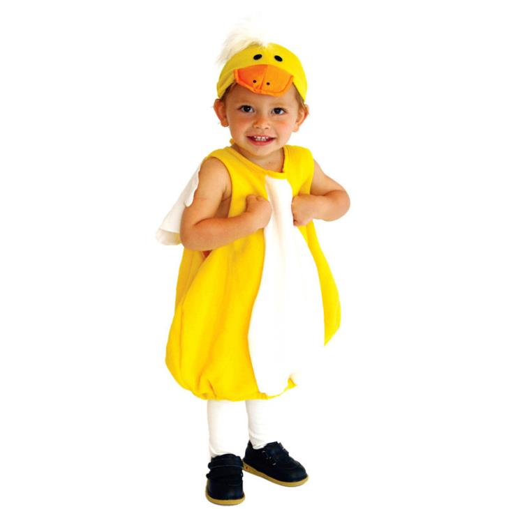HUIHONSHE Cute Yellow Duck Cosplay Animal Costume Fantasia Disfraces Halloween Costumes for Children Kids Game Uniforms