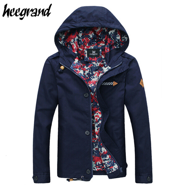 2016 Jacket Men Hooded Autumn Style Solid Casual Zipper Fashion 5 Colors High Quality Men Jacket Drop Shipping 806