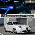 Для Alfa Romeo MiTo AR внутренний окружающий свет тюнинг атмосфера волоконно-оптические полосы света Furiosa внутри двери панель освещения