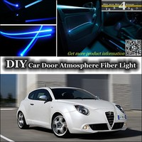 For Alfa Romeo MiTo AR interior Ambient Light Tuning Atmosphere Fiber Optic Band Lights Furiosa Inside Door Panel illumination
