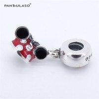 Pandulaso Minnie Enamel Hat 925 Sterling Silver Jewelry Beads DIY Making Fit European Charm Bracelet Necklace