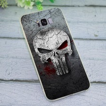 Cover for Samsung Galaxy A6 Plus 2018 The Punisher Phone Case for A7 A8 A9 A10 A20 A30 A40 A50 A70 J3 J5 J6 J7 A5 2017 стоимость