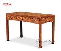 كتاب الجداول وحدة واحدة سرير غرفة المعيشة أثاث مكاتب مكتب روزوود نحت الخشب المستطيل وحة الصينية الكلاسيكية