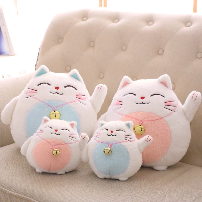 Janpan Anime Cat Plush Toy Lucky Cat Action Figure Calling Bring Money & Rich Cat Stuffed Soft Doll Mini Plush Toy Kids Toys