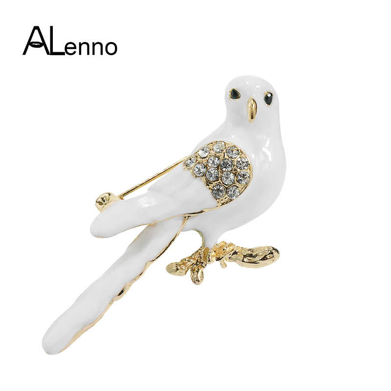 edd33b8c959 Vintage White Enamel Pigeon Brooches For Women Dove Lapel Pins Cute Bird Of  Peace Christmas Brooch