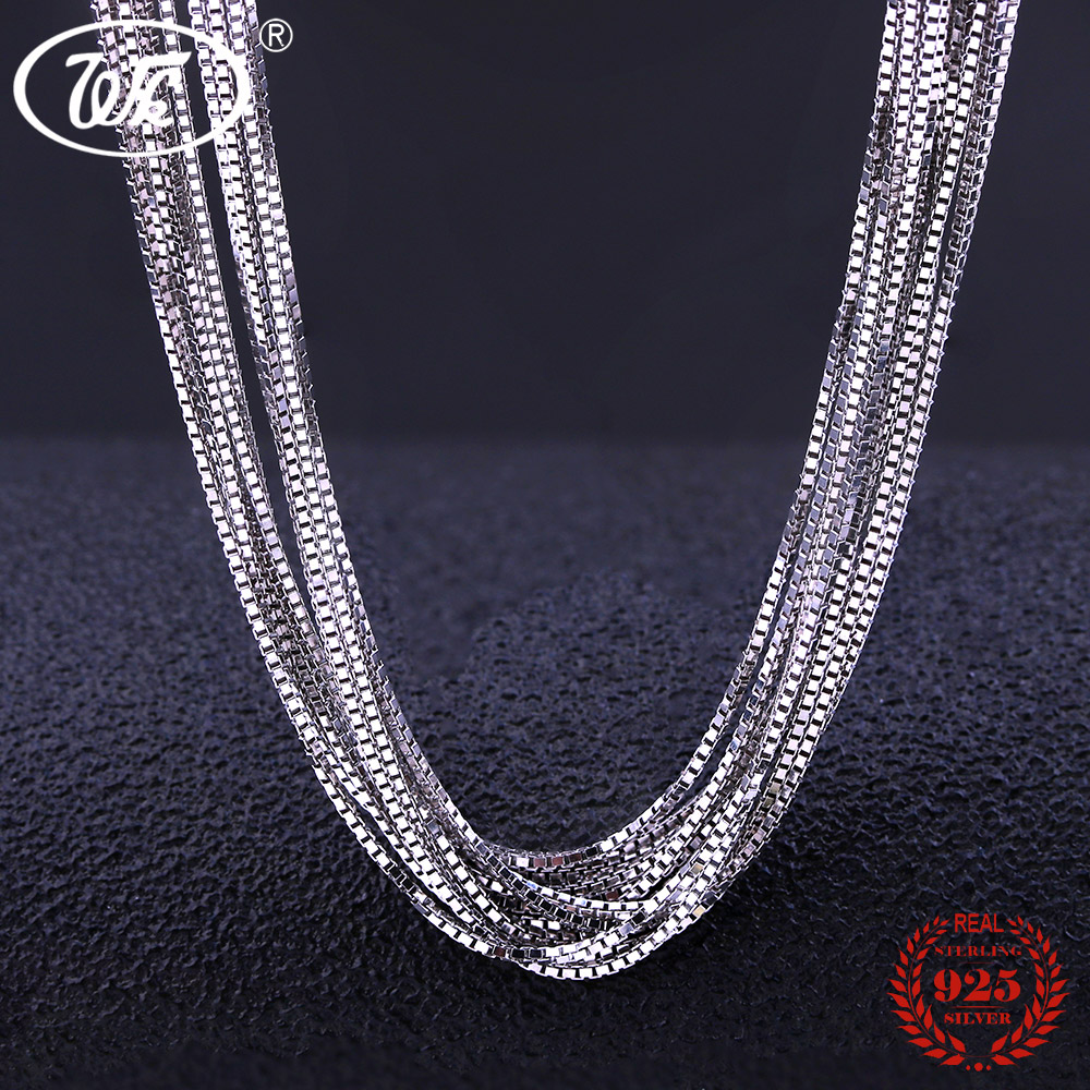 Wholesale Lots 925 Silver Chain Bulk Sterling Silver Chains Necklace Box Chain 5 10 20 50 100 PCS Lot 40 45 CM 0.8MM W5 NA004 10 pcs 925 sterling silver crimp
