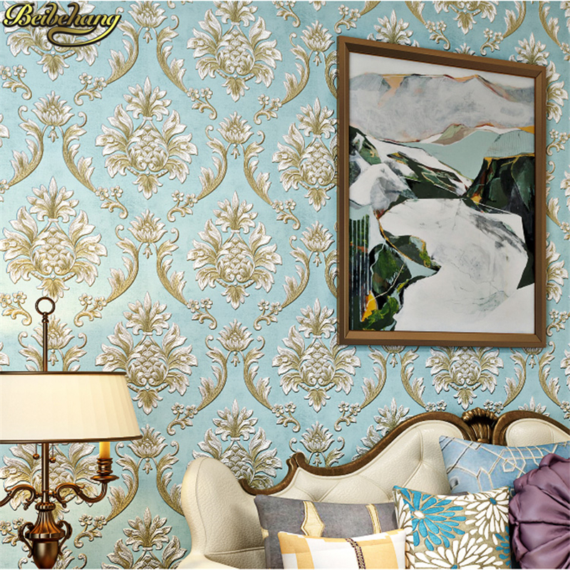 beibehang papel de parede 3D Non Woven European New Glitter metallic Damascus wallpaper for wall wall paper contact paper roll beibehang wallpaper roll damask wall paper roll floral papel de parede 3d non woven wallpaper mural wall decor papel parede