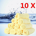 10Pcs 30*30cm Microfiber Car Cleaning Cloths Car Care Microfibre Wax Polishing Detailing Towels Washing Drying Cloths