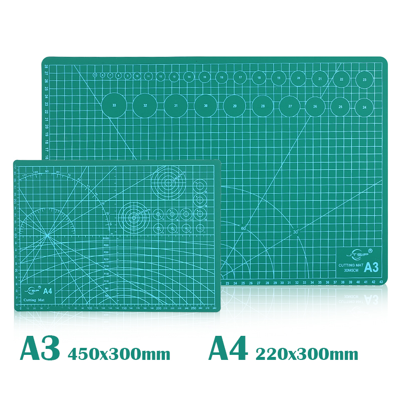 Self-Healing Cutting Mats A4 A3 Non Slip Double Sided Engraving School Supplies Printed Board Scrapbooking PVC Grid Lines