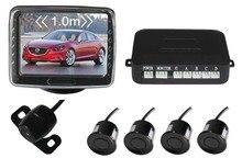Auto Car Parking Sensor 3.5 Inch Digital TFT LCD Car Monitor + 4 x Backup Sensors + 1 x Rearview Reverse Camera,Free Shipping
