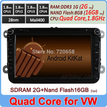 2 Din Pure Android 4.4 Car PC DVD For VW POLO JETTA PASSAT B6 GOLF MK5 MK6 CADDY SHARAN TOURAN SKODA OCTAVIA FABIA Built-in Wifi