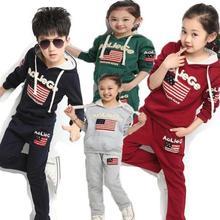 New Autumn Winter Kids Clothes Sets Jacket Pants Cotton Boys Girls Sport Suit Children Hoodies+pants Kids Tracksuit Casual Cloth