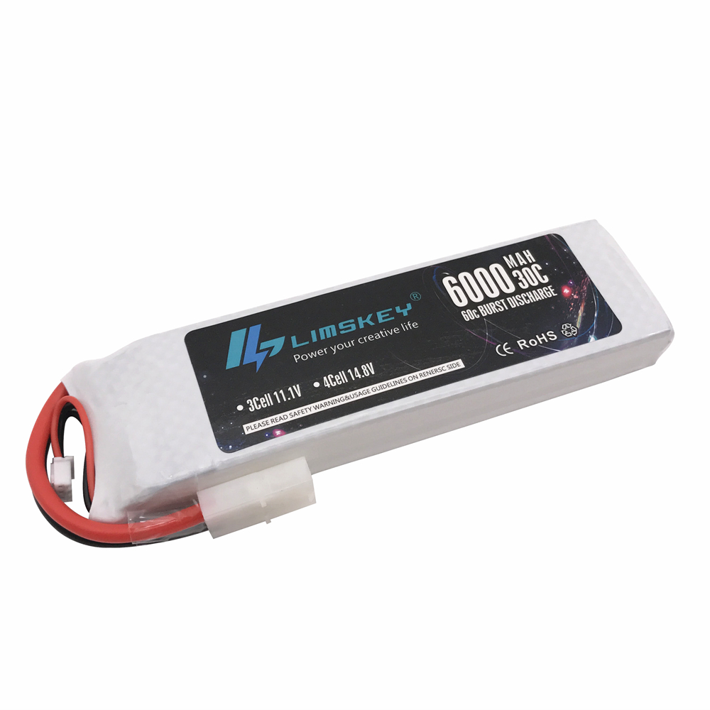 Limskey RC <font><b>Lipo</b></font> <font><b>2S</b></font> Battery Hard Case 7.4V <font><b>6000mAh</b></font> 30C MAX 60C For Traxxas Slash Emaxx RC 1/10 Car Truck Drone Helicopter image
