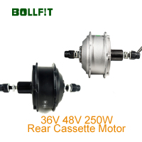 BOLLFIT 36V 250W Rear Cassette Motor Waterproof Plug Green Pedel MXUS High Speed Brushless Gear Hub Motor E bike Motor