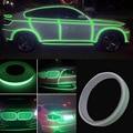 12 мм * 3 М Рулон Ярко-Зеленый Светоотражающие Наклейки Мотоцикл Автомобиль Световой Лента Светоотражатель Наклейка ПВХ DXY