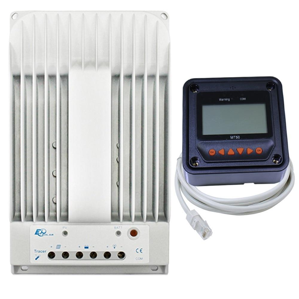 MPPT LCD contrôleur solaire 2215BN traceur 20A contrôleur de Charge solaire 150 V panneau solaire entrée compteur à distance LCD MT50 EPsolar