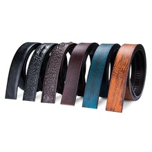 DiBangGu Cowhide Belt Strap No Buckle Genuine Leather Belts  suit belt Automatic Buckle Belt For Mens luxury High Quality