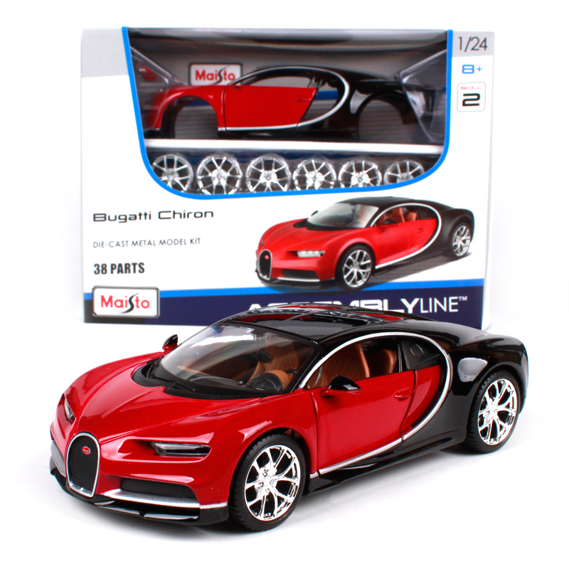 Maisto 1:24 Bugatti Chiron Assembly LINE DIY Diecast Model Car Toy New In Box Free Shipping NEW ARRIVAL 39514 maisto 1 24 2008 dodge challenger srt8 assembly diy diecast model car toy new in box free shipping 39280