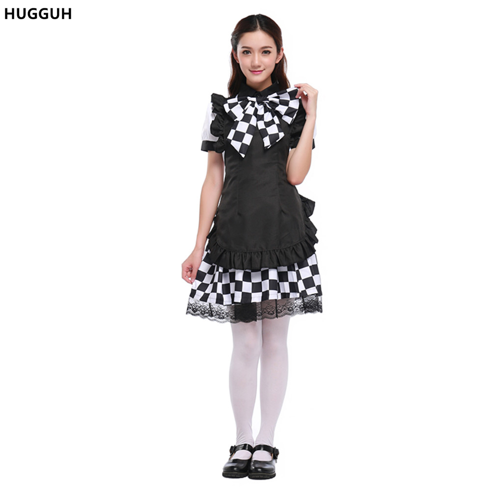 HUGGUH Brand New Japanese Anime Costume Halloween Cosplay Coffee Shop Waitress Costume Grid Maid Uniform Exotic Apparel H168128  sc 1 st  Google Sites & ?HUGGUH Brand New Japanese Anime Costume Halloween Cosplay Coffee ...