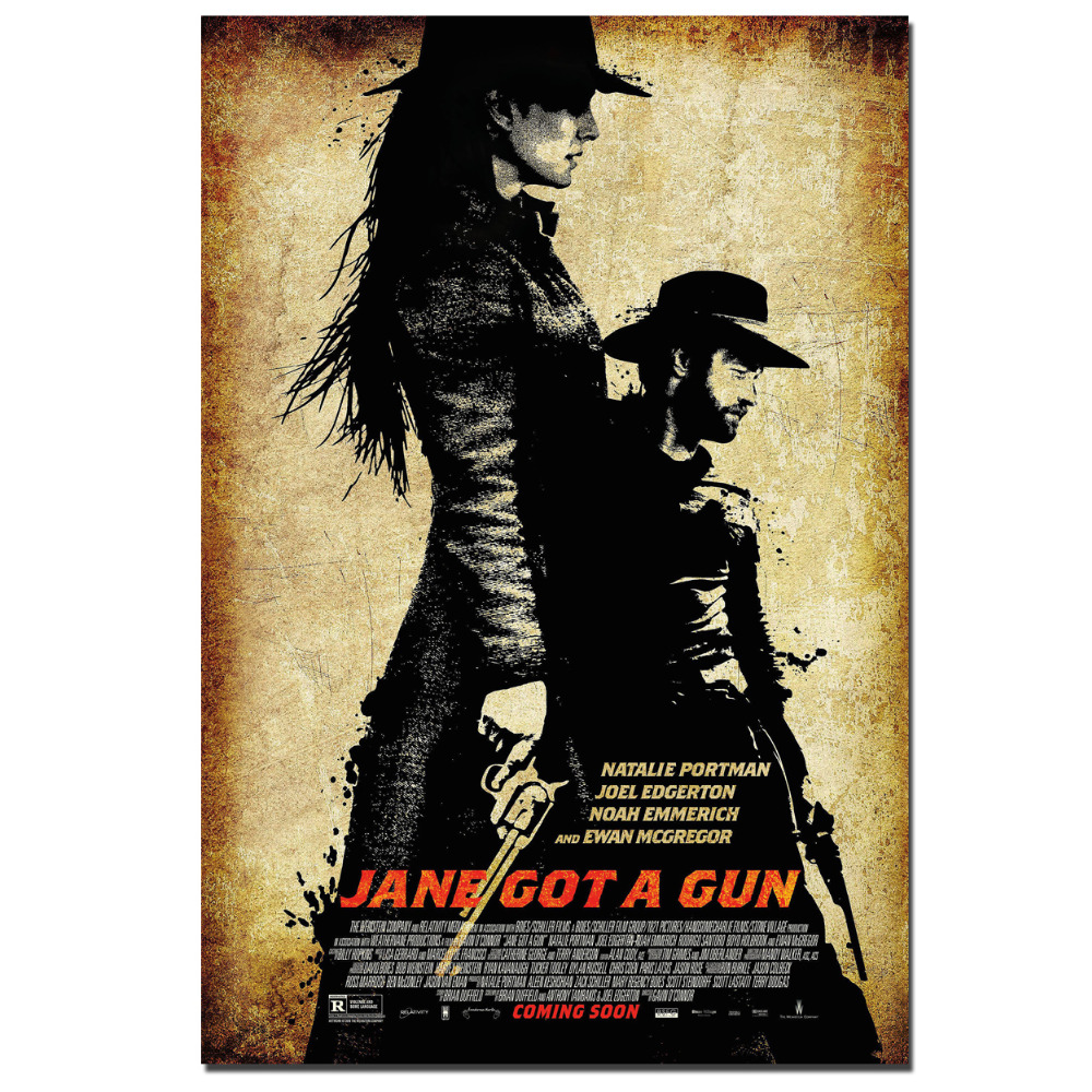 Jane Got a Gun Movie Poster Wall Art Picture Canvas Cloth Fabric ...