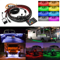 OKEEN Car Styling 12V RGB Colors LED Light Bar Music Wireless Remote Truck Pickup Bed Tailgate