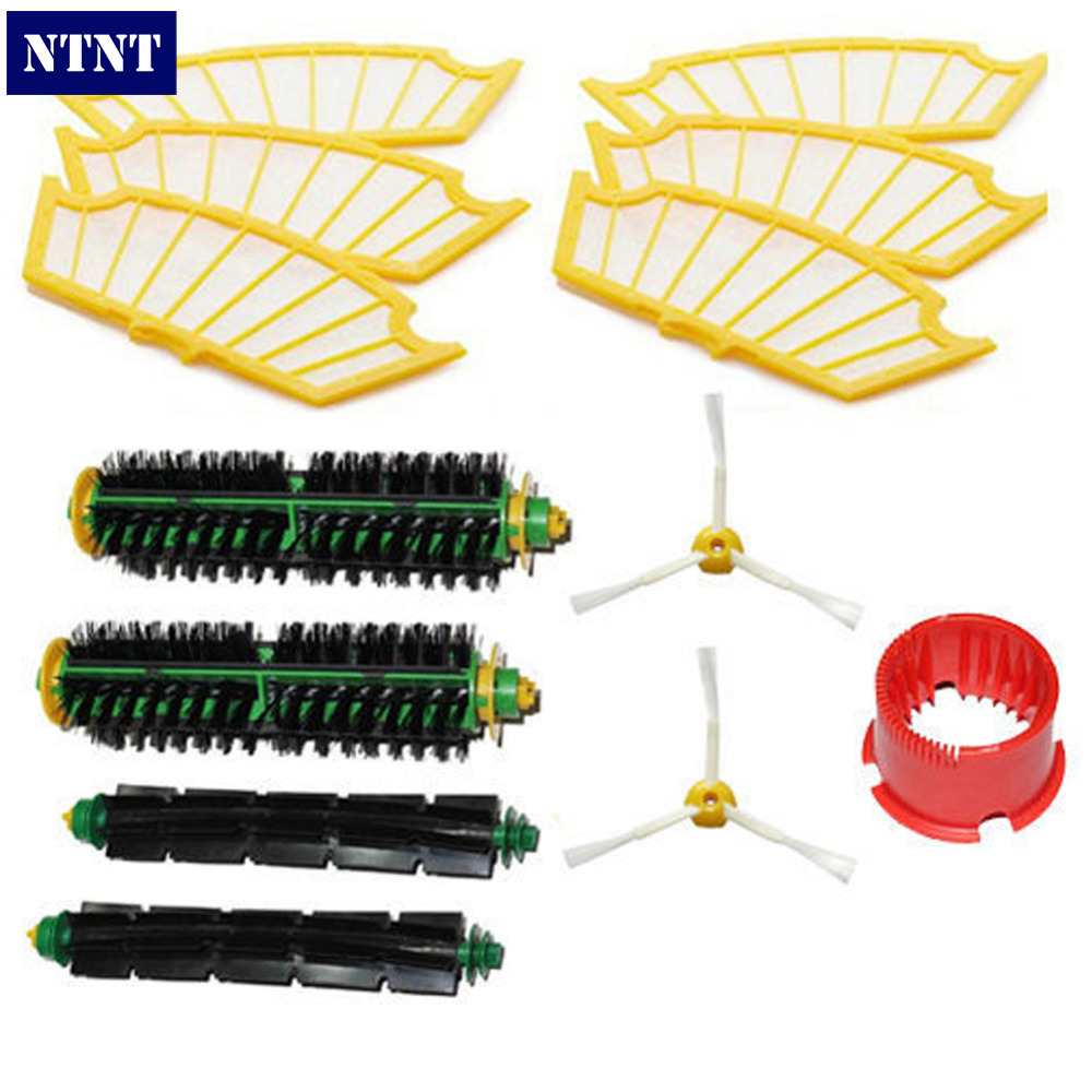 NTNT Free Shipping New Filters & Brush 3-armed Pack Clean tool kit for iRobot Roomba 500 Series ntnt free shipping side brush filters 6 armed mini kit for irobot roomba 500 series