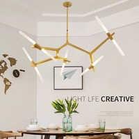 โมเดิร์นโคมระย้าโคมไฟสำหรับห้องรับประทานอาหารห้องนั่งเล่นความเป็นเงาร้านทำผม moderne โคมระย้าแก้วแขวนโคมไฟแสง Fixt