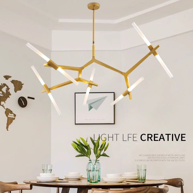 US $34.8 40% OFF|Modern LED Chandelier Lighting For Dining room Living room  lustre salon moderne Glass Chandelier suspension luminaire Light Fixt-in ...