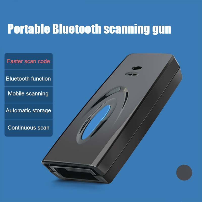Ne M5QR/QM Barcode Reader Bluetooth Wireless Handle Mini Scanner Phone Screen To Scan for iPhone Android Windows Q99 @88
