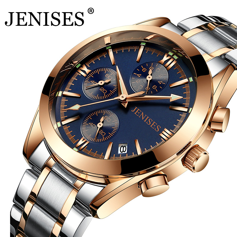 Men Watch Top Brand Luxury Business Sport Chronograph Stainless Steel Quartz Wrist Watch Men Clock Male relogio masculino saat migeer relogio masculino luxury business wrist watches men top brand roman numerals stainless steel quartz watch mens clock zer