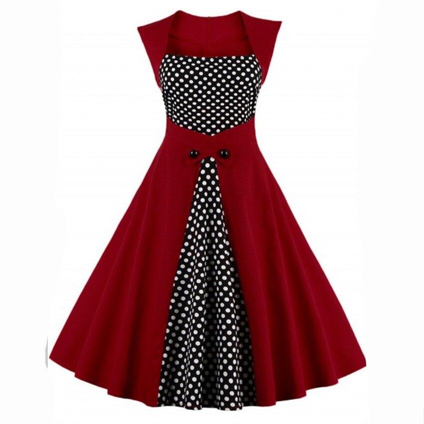 Aliexpress.com : Buy 2017 Summer Women Robe Pin Up Dress Retro 50s ...