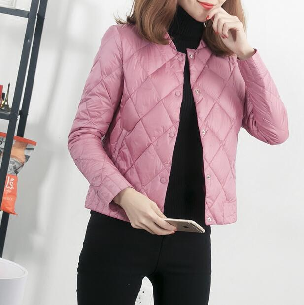 Mode Beige caramel Femme Bas Court Vers Hiver Pour Mince gris Manteau rose Léger Femmes Vêtements 2019 noir Down Nouveau Taille Le La Loisirs Veste Plus X0wknOP8