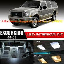 Free Shipping 12Pcs/Lot 12v Xenon White/Blue Package Kit LED Interior Lights For 00-05 Ford Excursion