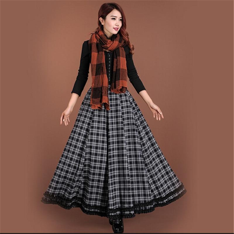 Popular Plaid Maxi Skirt-Buy Cheap Plaid Maxi Skirt lots from ...