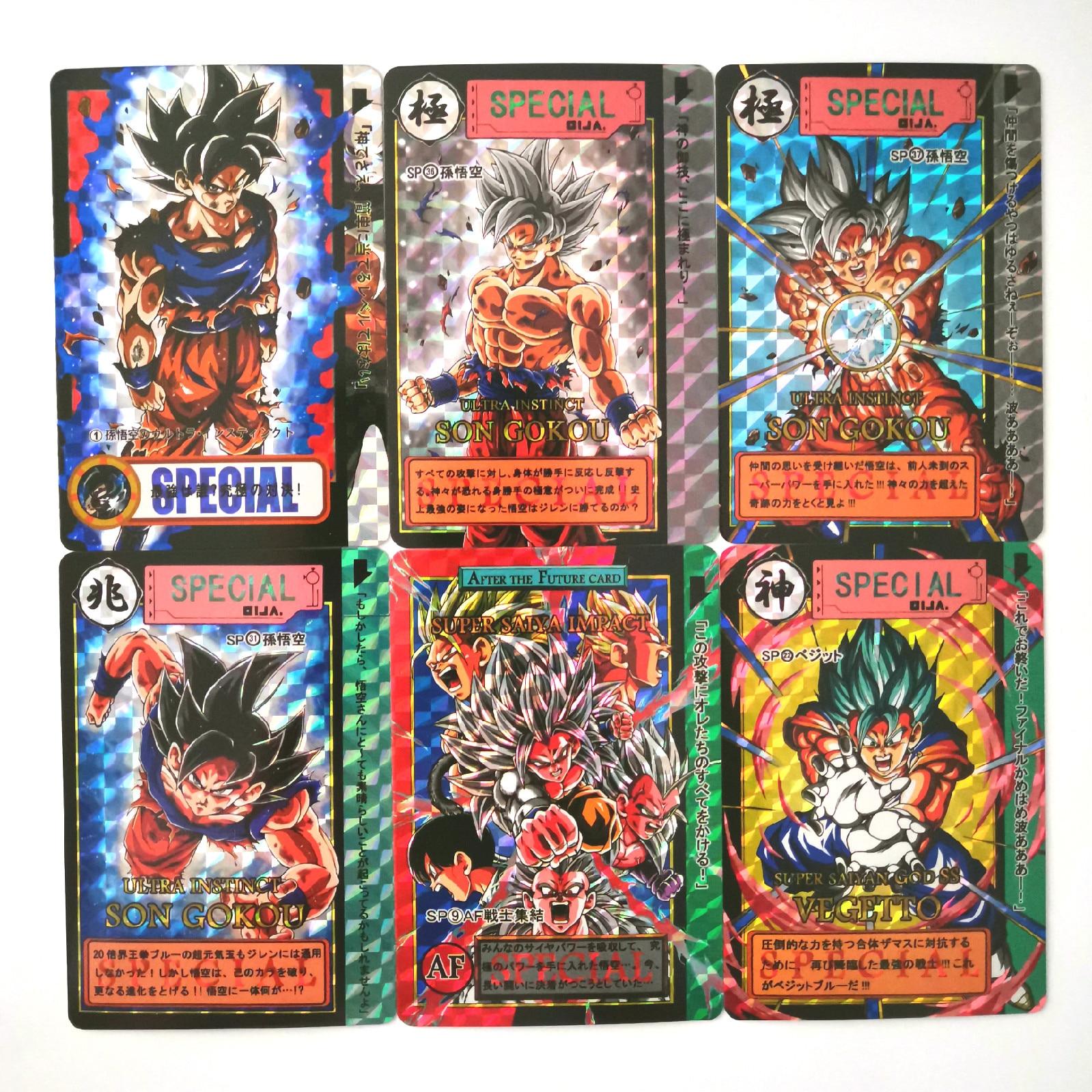 43pcs/set Super Dragon Ball Limit Breakthrough Heroes Battle Card Ultra Instinct Goku Game Collection Cards