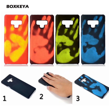Thermal Sensor Cases For Samsung Galaxy Note 9 8 S7 S8 S9 Plus A6 A8 A9 A7 2018 A750 Fluorescent Color Changing Phone Back Cases
