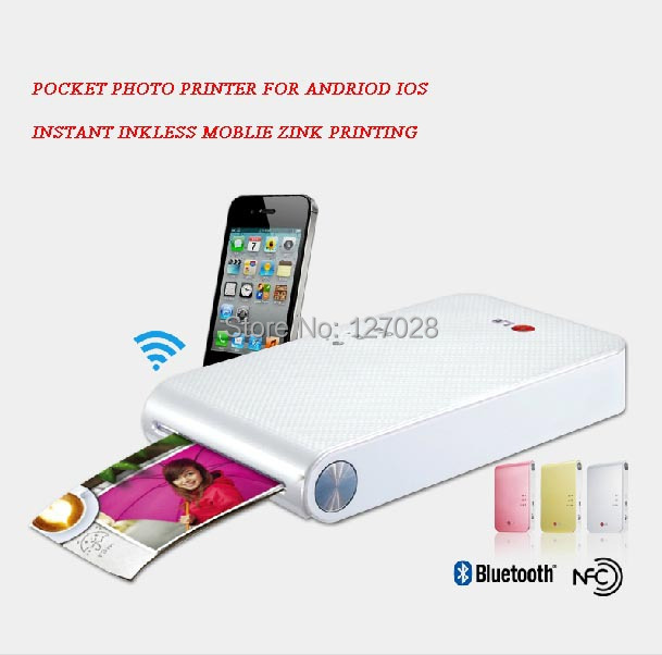 Wtsfwf Inkless Pocket Photo Printing Machine Mobile Cell Phone Photo