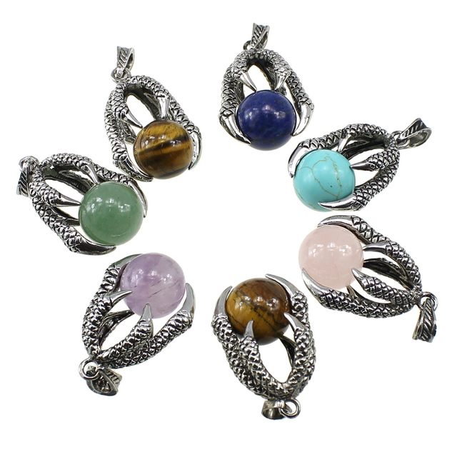Dragon Claw Leather Cord Necklaces 3