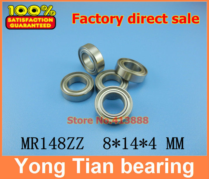 (1pcs) High quality ball bearing (stainless steel 440C material) SMR148ZZ 8*14*4 mm ABEC-5 Z2 1pcs high quality miniature stainless steel deep groove ball bearing stainless steel 440c material smr85zz 5 8 2 5 mm