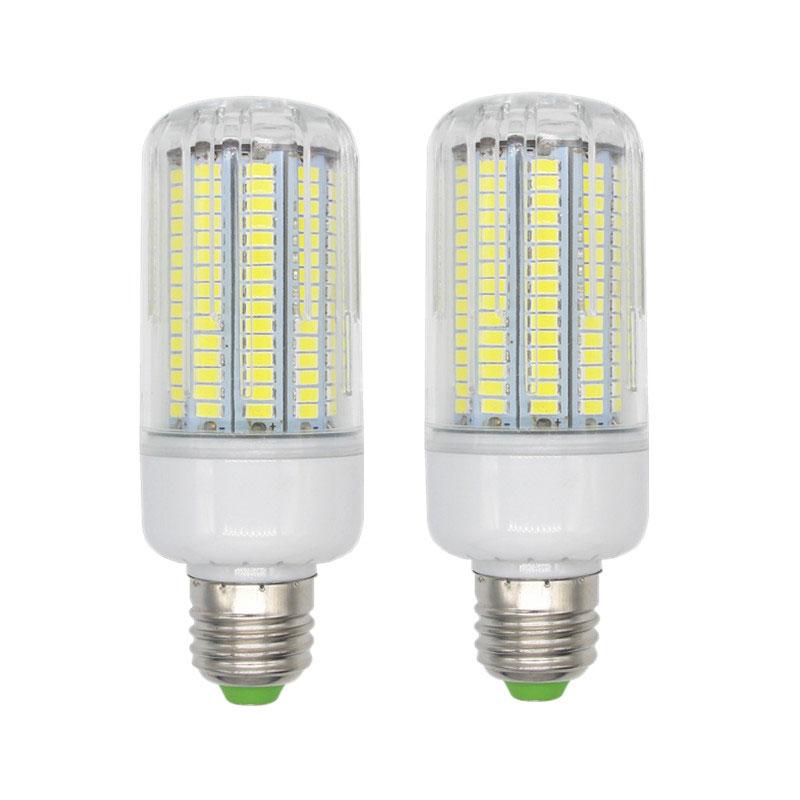 2pc 170leds led Corn Light Bulb Lamp 15W Corn Led Light Energy Saving Light Replacement 110-130lm Per Watt Black And White Led