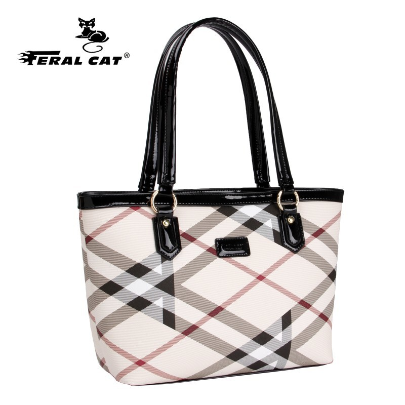 High Quality Tote Authentic Luxury Brands Women Bags 2018 New Designer Handbags Womens Plaid Shoulder Bag Free Shipping 6022 In Top Handle From