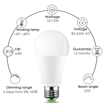 "2019 new ""ZH29"" White+RGB LED Light Bulb 10W 15W Color Changing RGBW Magic Smart Lamp 110V 220V E27 Daylight IR Remote Control 1"