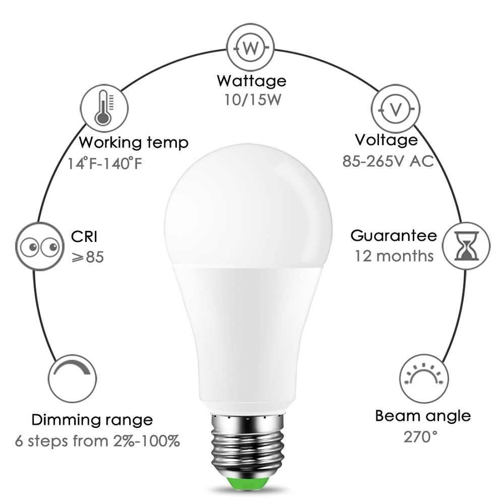 "2019 new ""ZH29"" White+RGB LED Light Bulb 10W 15W Color Changing RGBW Magic Smart Lamp 110V 220V E27 Daylight IR Remote Control"