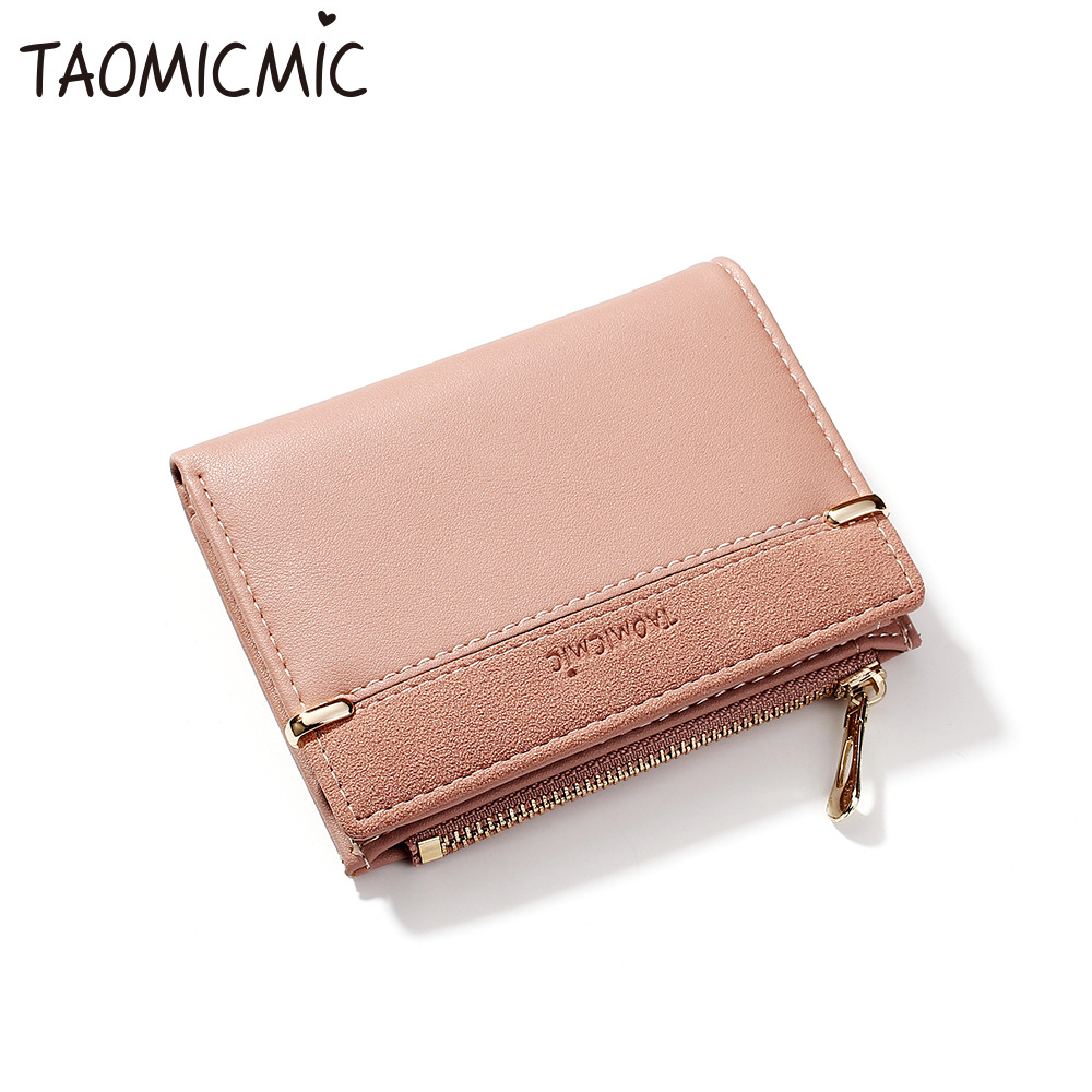 Female Square Mini Hasp Solid Multi Cards Holder Fashion Leather OL Style  Coin Changes Women Wallets High Quality Slim Wallet-in Wallets from Luggage    Bags ... 2baa04c87bf9